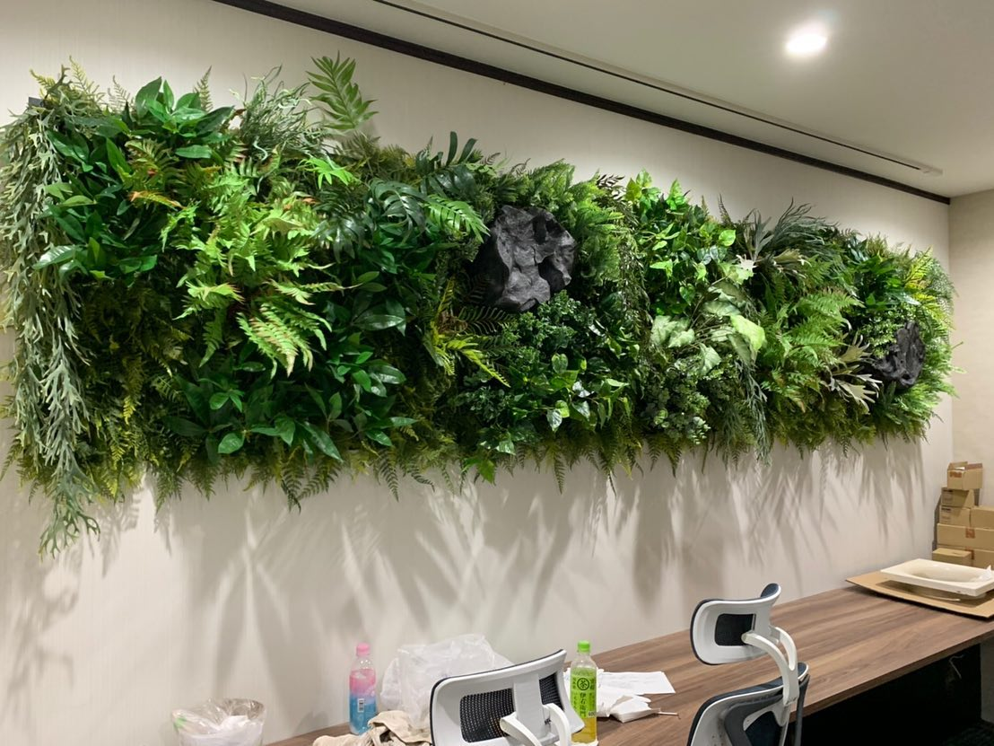 造花壁面緑化デコプラ