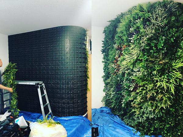 造花壁面緑化